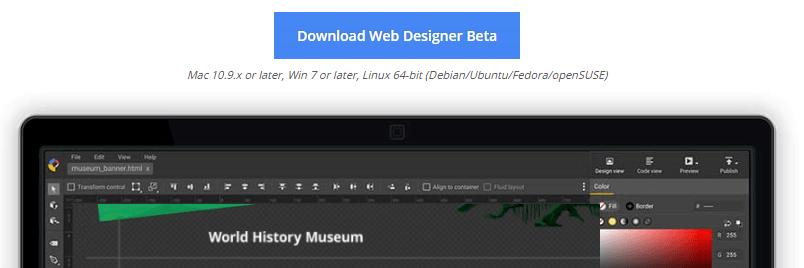 Uma introdução ao Google Web Designer - download button - Uma introdução ao Google Web Designer